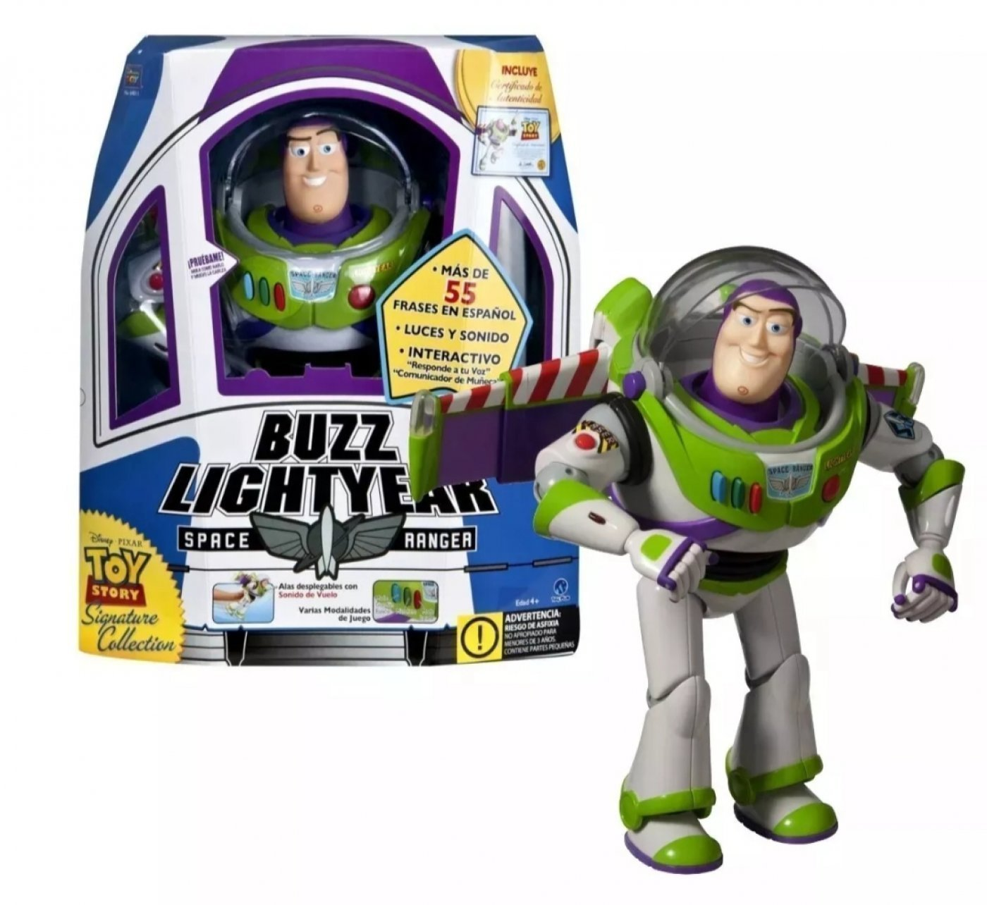 Buzz Interactivo Signature Collection Toy Story, Habla  55 Frases!
