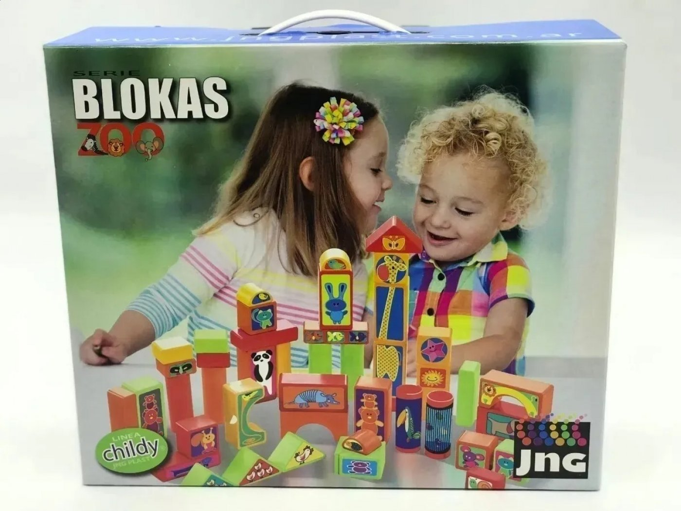 Bloques Blokas Zoo Childy Colores Original Jng