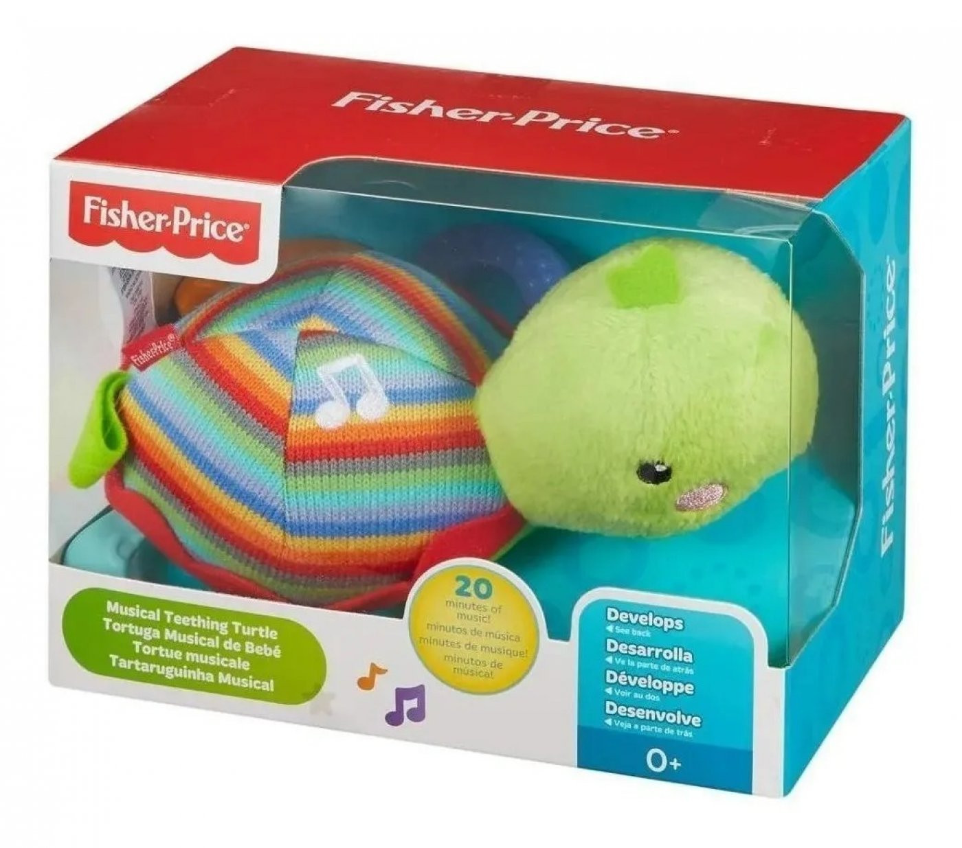 Fisher Price Tortuga Musical De Bebé Peluche