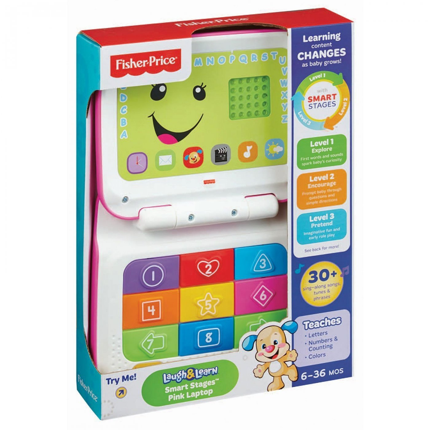 Fisher Price Laptop De Aprendizaje Crece Conmigo Rosa