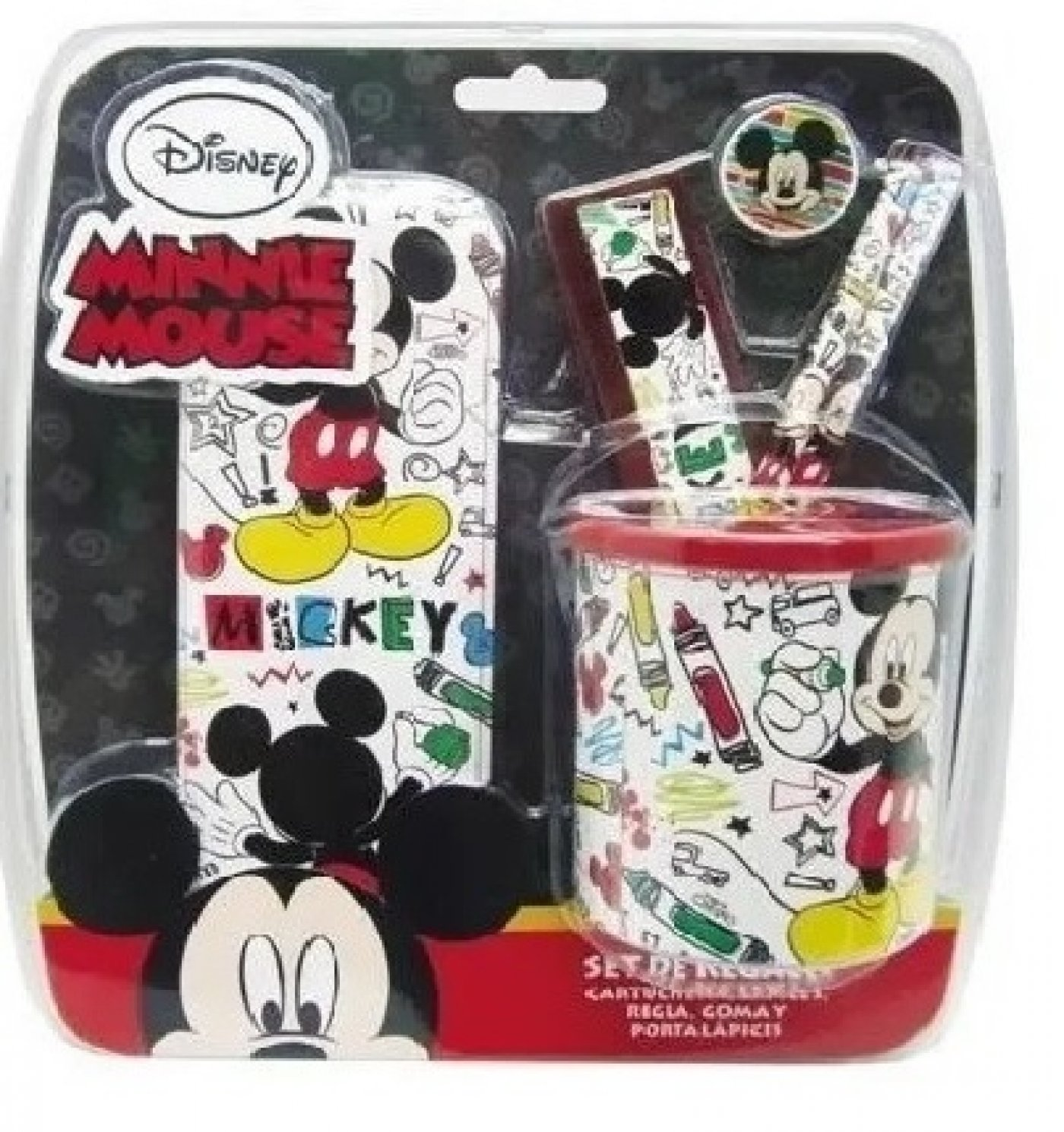 Set Escolar De Regalo Mickey Mouse