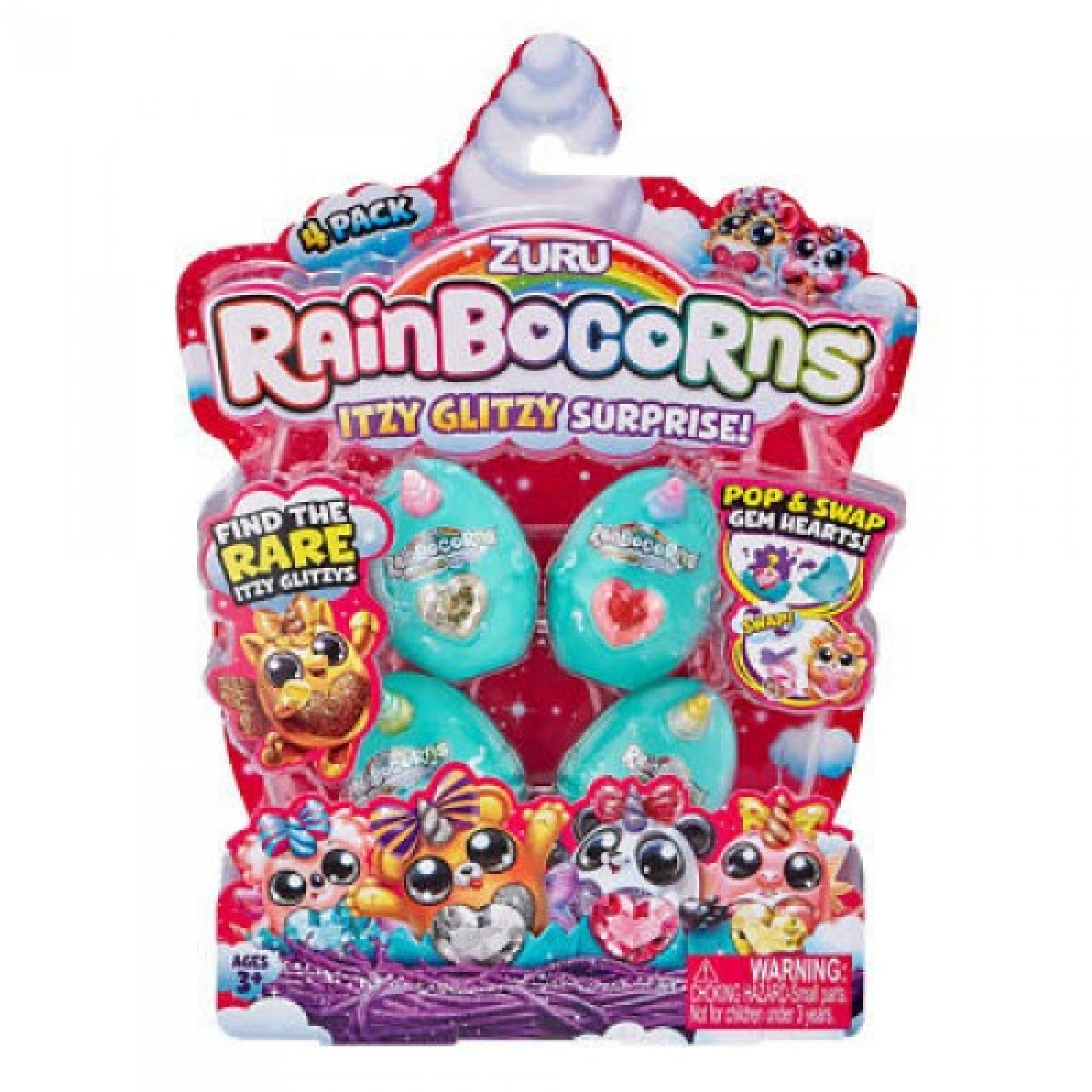 Rainbocorns Itzy Glitzy Surprise x 4