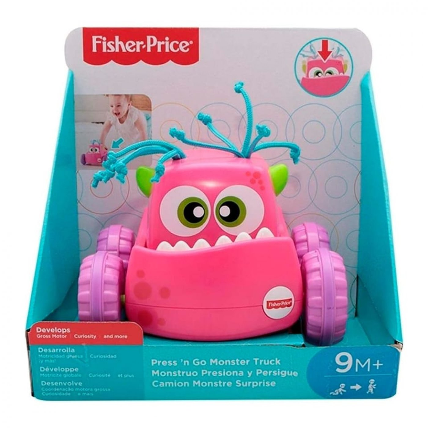 Monstruo Presiona y persigue Fisher Price