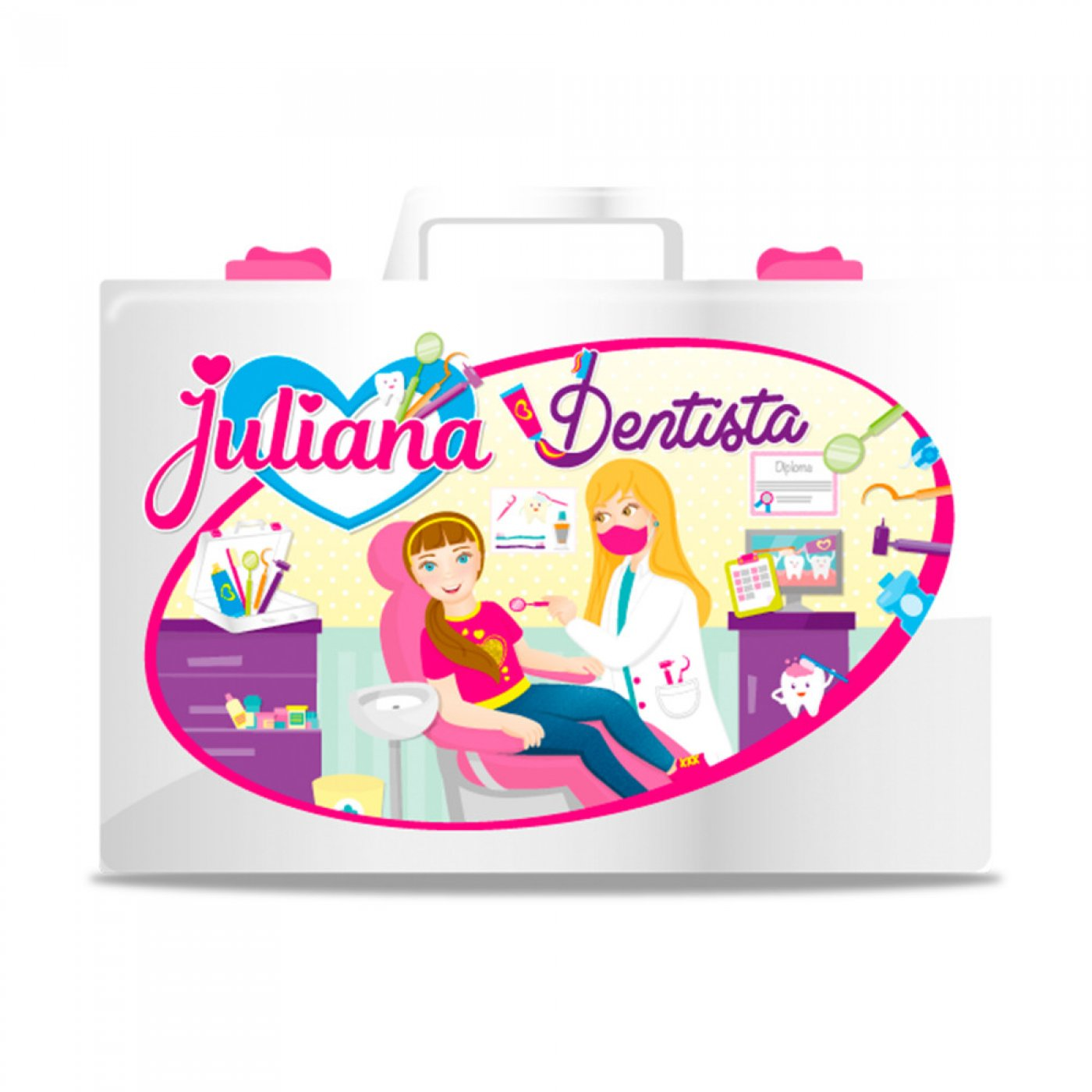 Valija Juliana Set Dentista Con Accesorios Original Grande