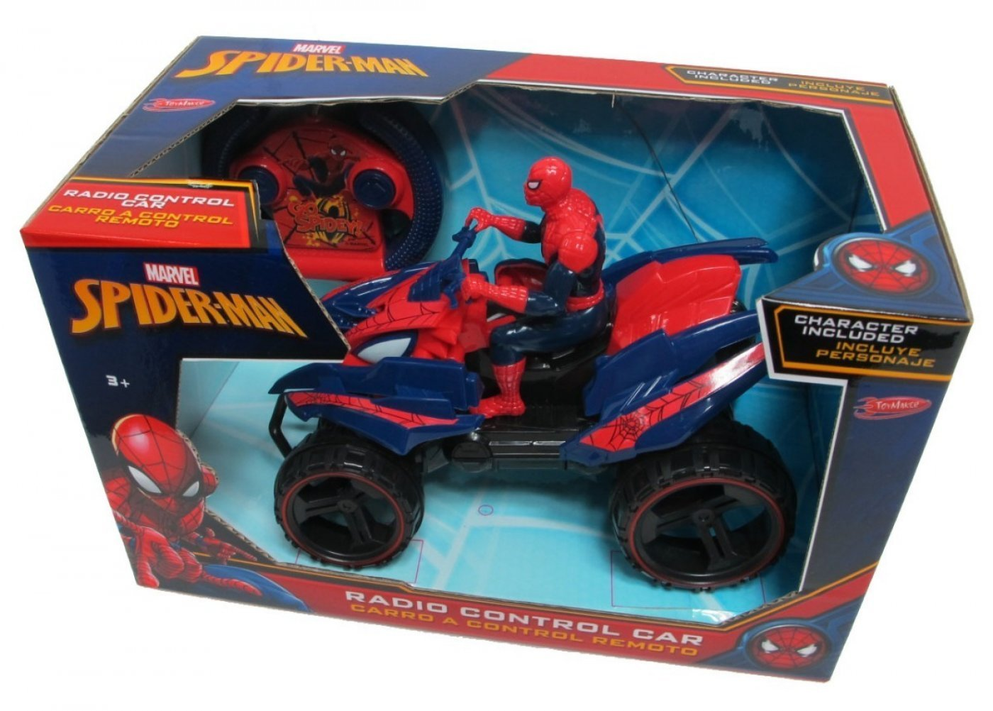 Cuatriciclo Radio Control-spiderman Original!! MARVEL-DITOYS