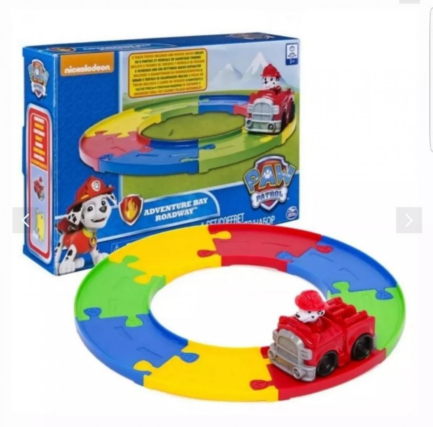 Paw Patrol Vehiculo Marshal Set Vias Adventure Bay Roadway