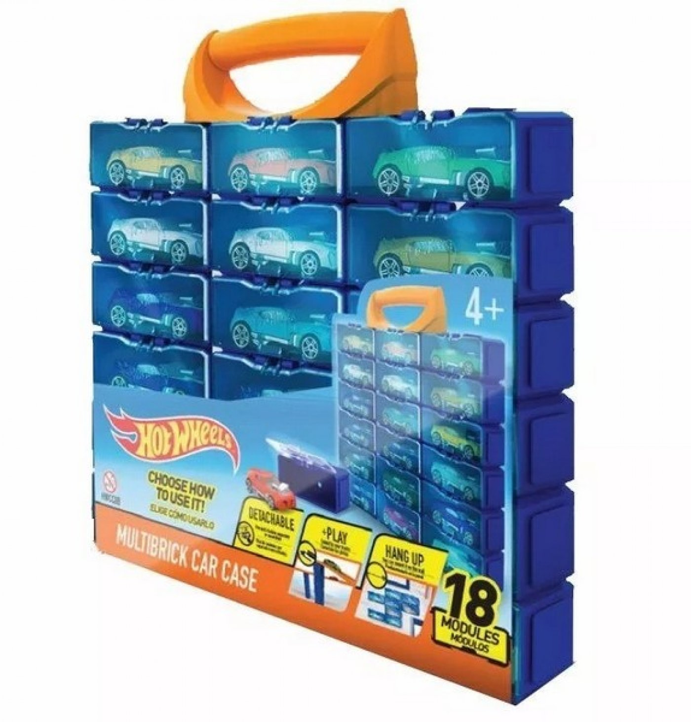 Hot Wheels Multibrick Car Case 18 módulos