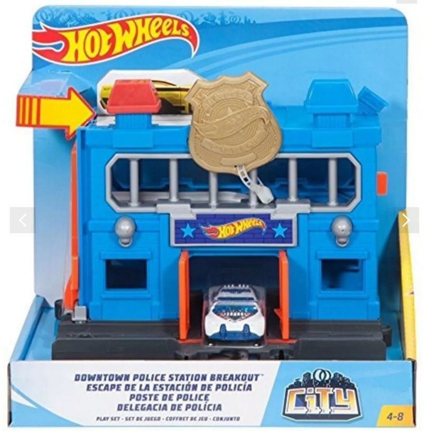 Hot Wheels City Escape De La Estacion De Policia