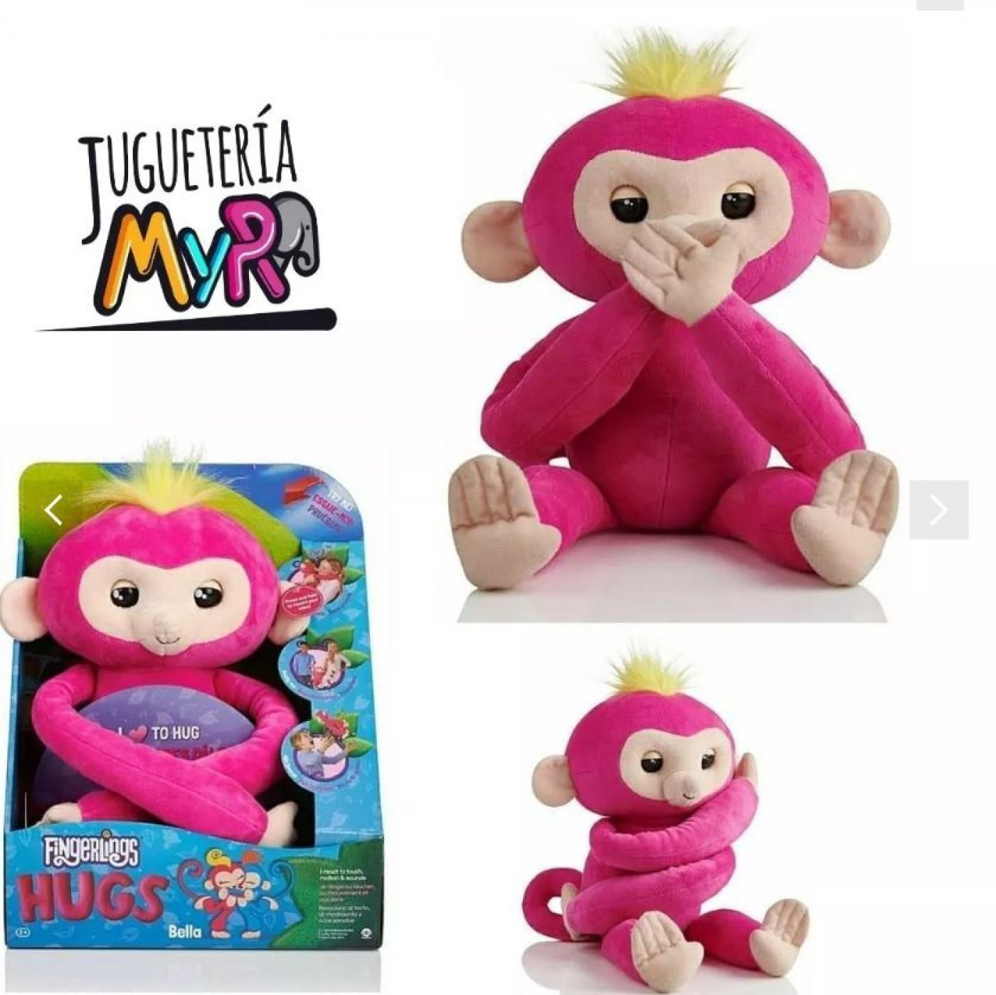 Peluche Fingerlings Hugs Interactivo 50cm Sonidos Reales