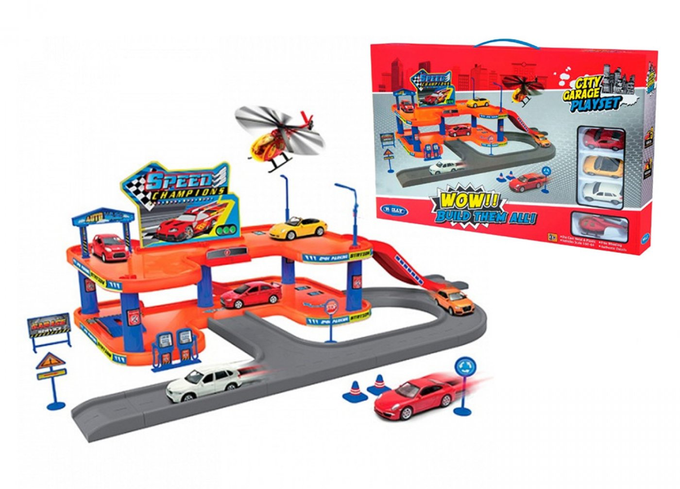 city garage playset 2 pisos