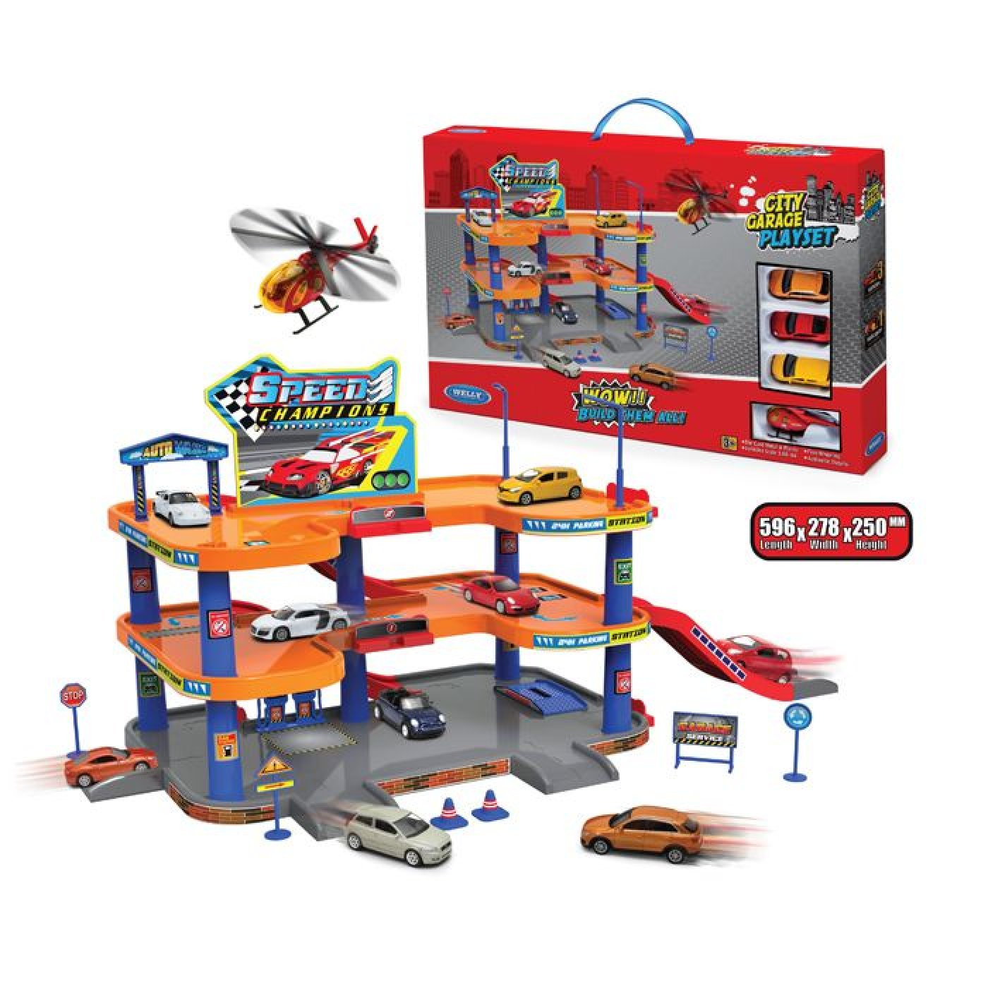 City Garage Playset 3 Pisos