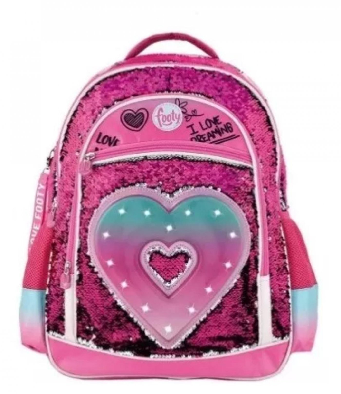 Mochila Footy Corazon Luminoso