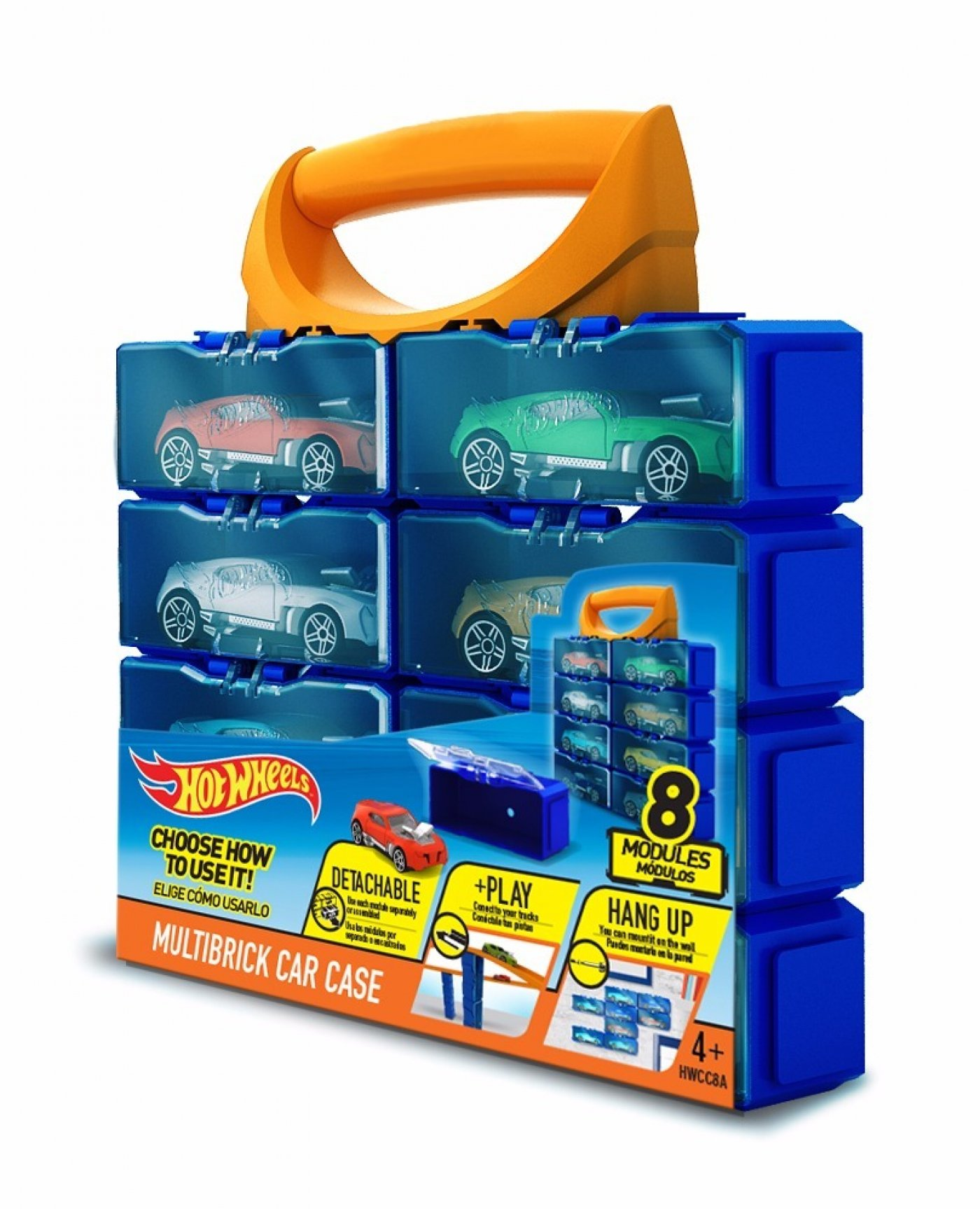 Hot Wheels Multibrick Car Case - 8 Modulos