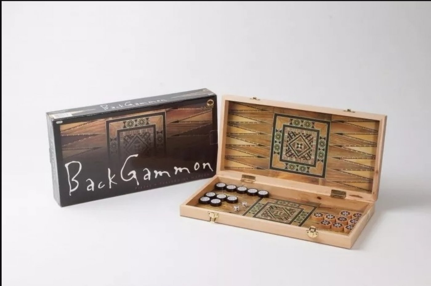 Damas-Backgammon 2 en 1 Bisonte