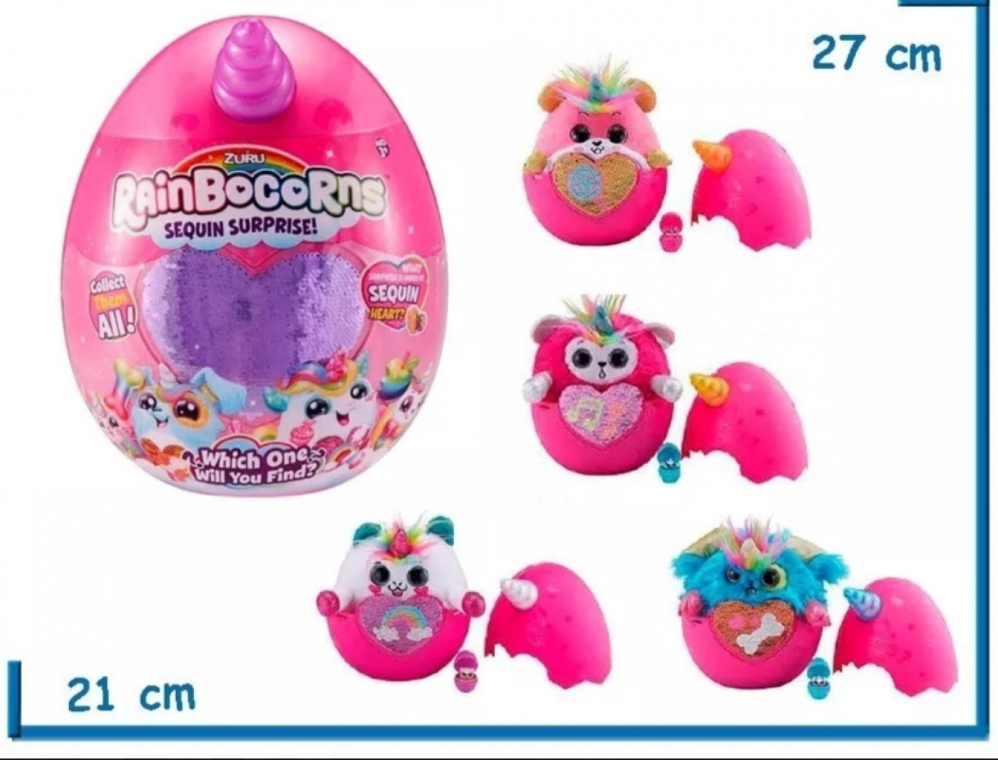 Rainbocorns Peluche Unicornio