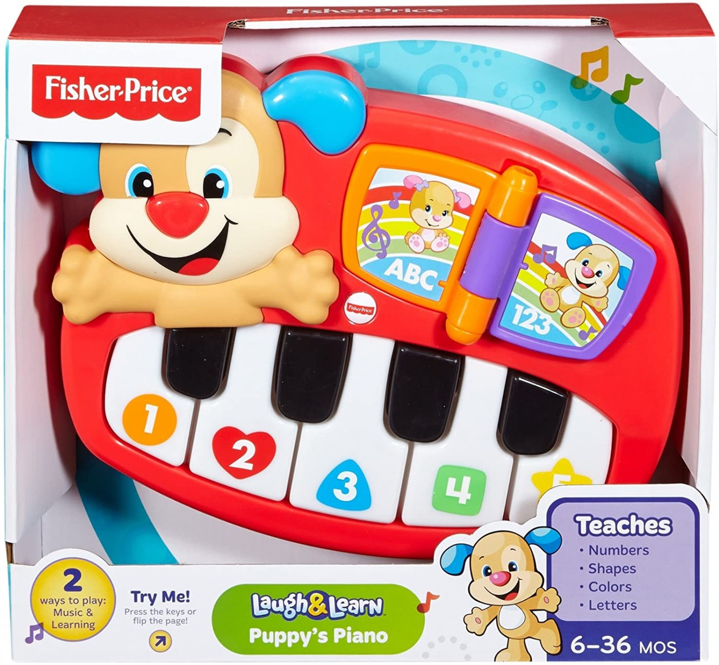 Piano Perrito Fisher Price Aprende Original
